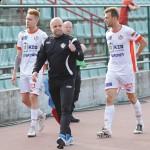 Mina i gest trenera Roberta Pevnika mówią wszystko za siebie: trenerzy i piłkarze zrobili swoje. Fot. fotoMiD