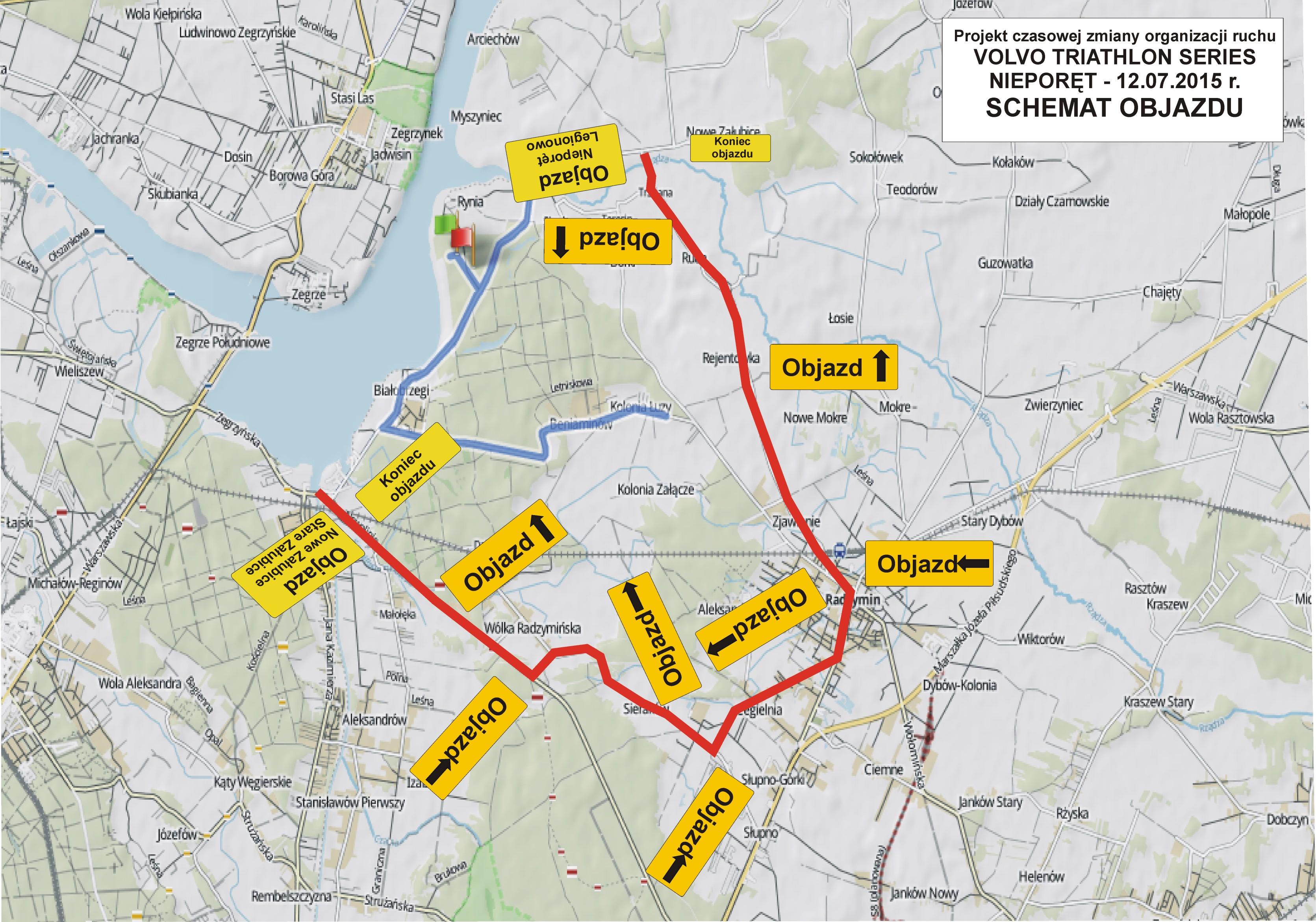 plan objazdu