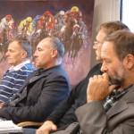 Zespół kontrolujący Komisji Rewizyjnej w składzie Arkadiusz Syguła, Wojciech Nowosiński i Tomasz Wodzyński.