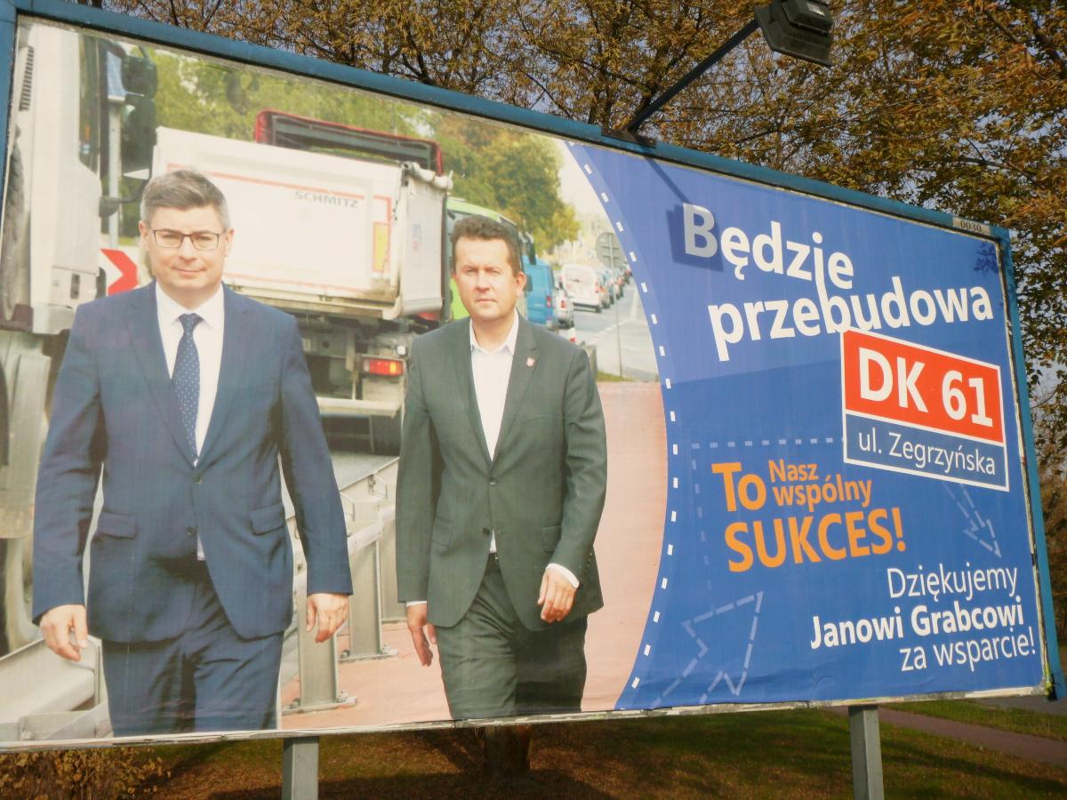 Do promocji kandydata PO czynnie włączył się jego przyjaciel, prezydent Legionowa Roman Smogorzewski. Jak się okazuje, na nasz koszt.