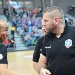 Trenerzy po meczu, Tałant Dujszebajew i Robert Lis, mieli sobie po meczu coś do powiedzenia.
