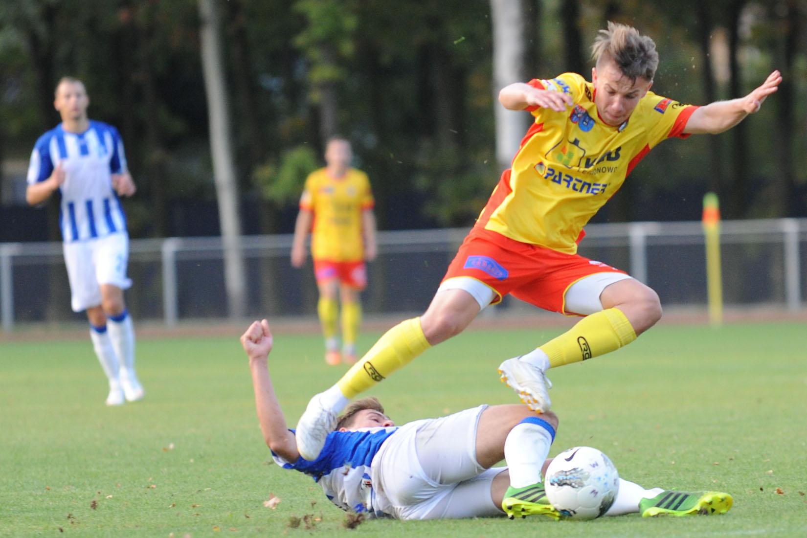 Mateusz Kwiatkowski strzelił w Bytomiu pierwszą bramkę dla legionowskiego zespołu.