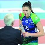 MVP spotkania, przyjmująca Klaudia Kaczorowska.