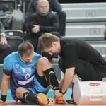 Damian Suliński nie skończył mecz z powodu skręcenia kostki.