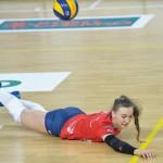 W akcji legionowskie libero, MVP spotkania, Adriana Adamek.