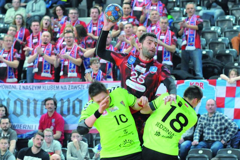 Paweł Gawęcki rozegrał bardzo dobre spotkanie, był najlepszym strzelcem zespołu.