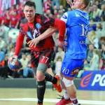 Kamil Ciok też walczył, strzelił trzy gole.