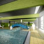 Koncepcja zakłada utworzenie przy Zespole Szkół basenu z niecką o wymiarach 25x16,5 m.