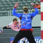 Mikołaj Krekora po tym strzale B. Tomczaka skapitulował, ale w ostatniej akcji meczu wybronił legionowianom remis.