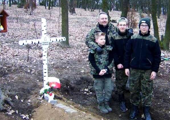 Pan Robert Kanigowski z rodziną. Fot. Powiat Legionowski