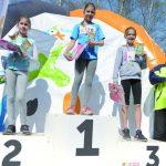 Natalia Jakubowska wygrała bieg dziewcząt rocznika 2005. Fot. fotoMiD