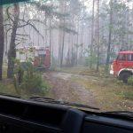 pożar lasu osp chot4