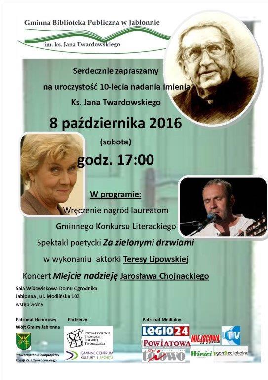 plakat-10-lecie-nadania-bibliotece-imienia-ks-j-twardowskiego