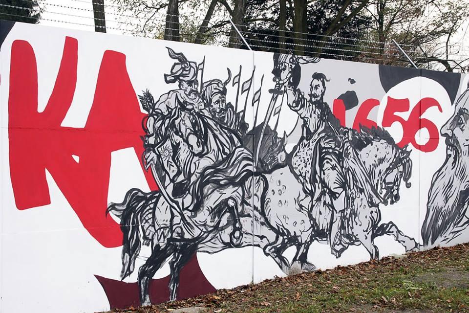 Dziwi si czy bijemy si o z ot patelni for Mural legionowo