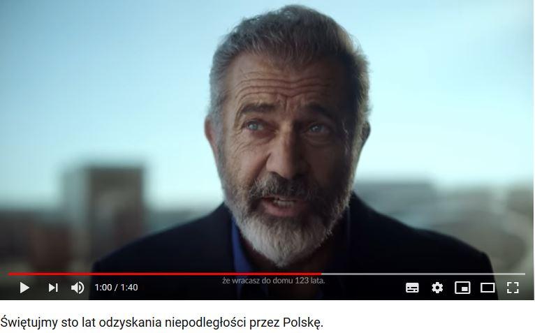 Mel Gibson / autor: YouTube/PFN