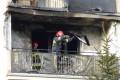 LEGIONOWO.  Groźny pożar na balkonie